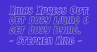 Xmas Xpress Outline Italic