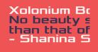 Xolonium Bold