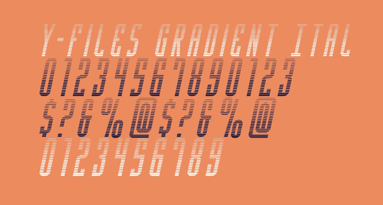 Y-Files Gradient Italic