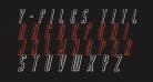 Y-Files Title 3D Italic