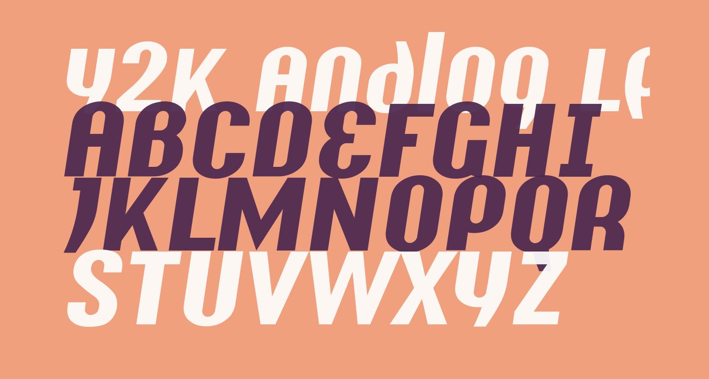 Y2K Analog Legacy Italic