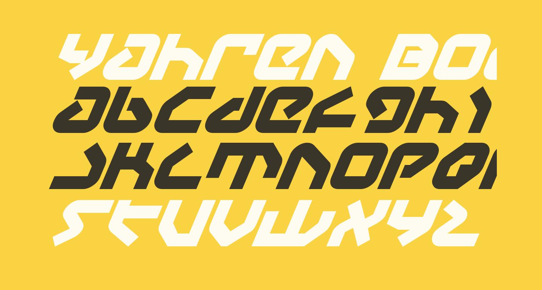 Yahren Bold Italic