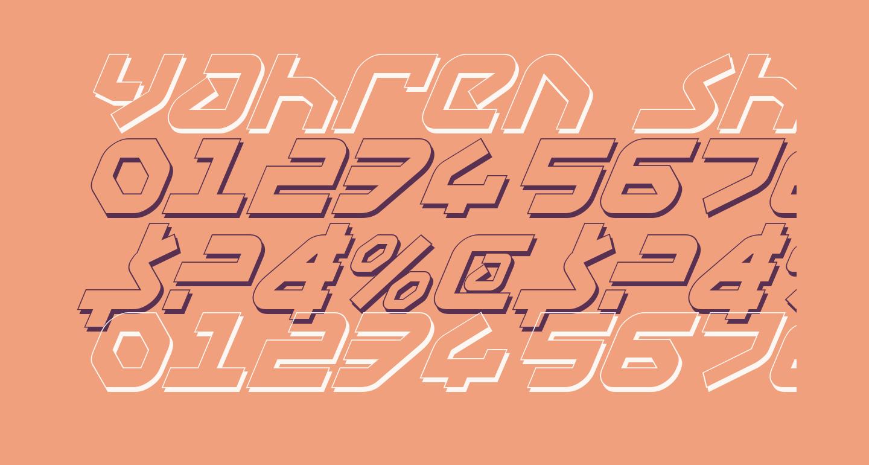 Yahren Shadow Italic