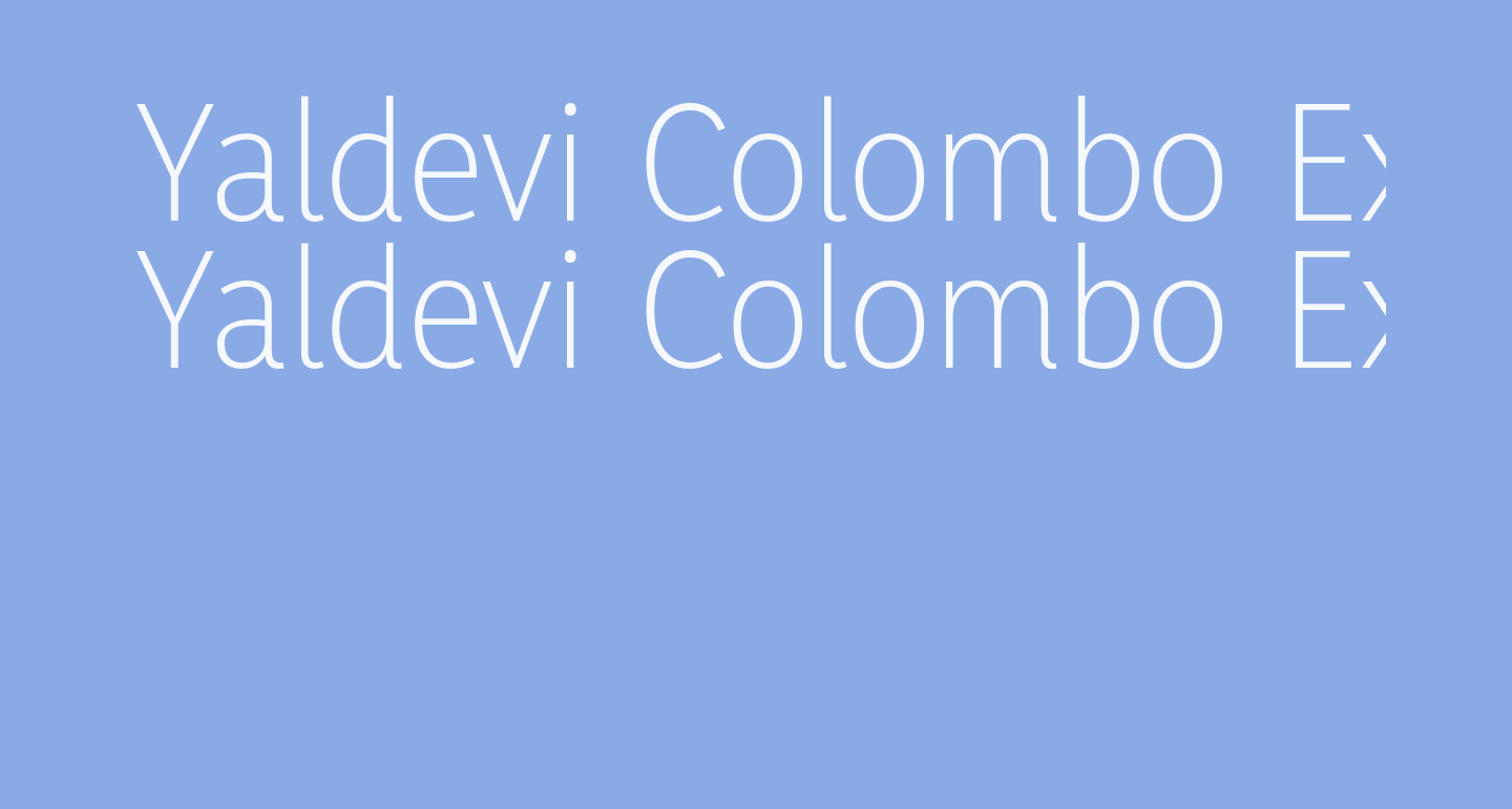 Yaldevi Colombo ExtraLight