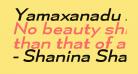 Yamaxanadu Italic