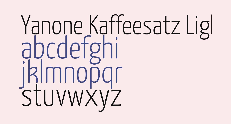 Yanone Kaffeesatz Light