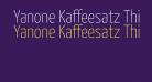 Yanone Kaffeesatz Thin