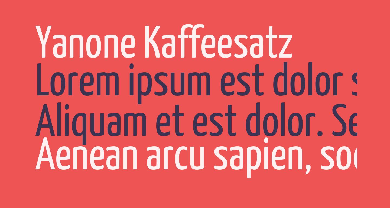 Yanone Kaffeesatz