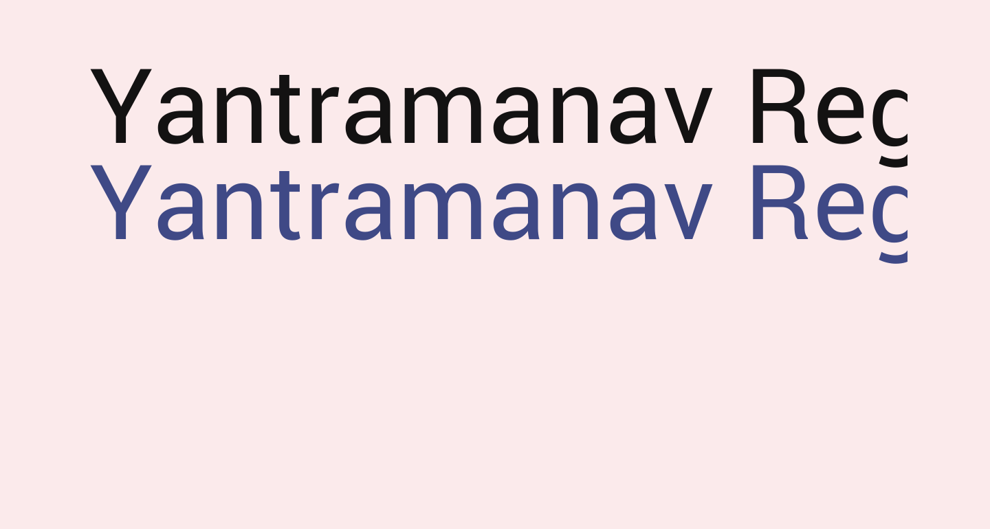 Yantramanav Regular