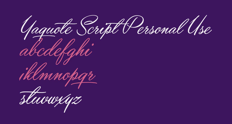 Yaquote Script Personal Use