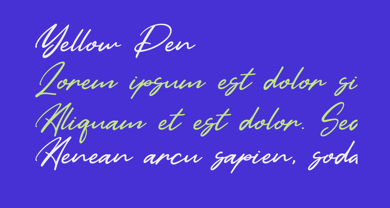 Yellow Pen
