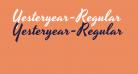 Yesteryear-Regular