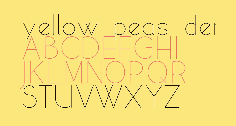 yellow peas demo