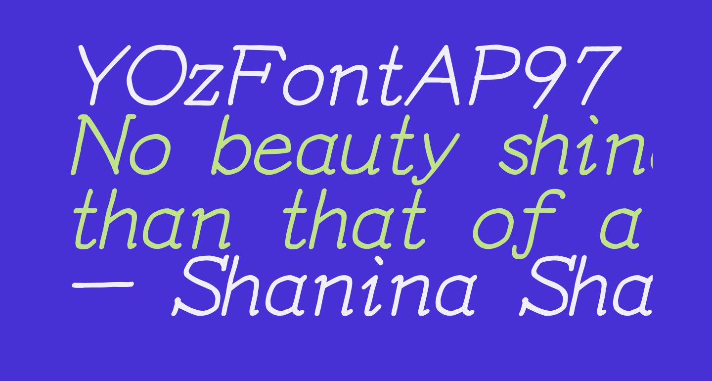 YOzFontAP97 Italic