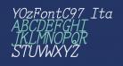 YOzFontC97 Italic