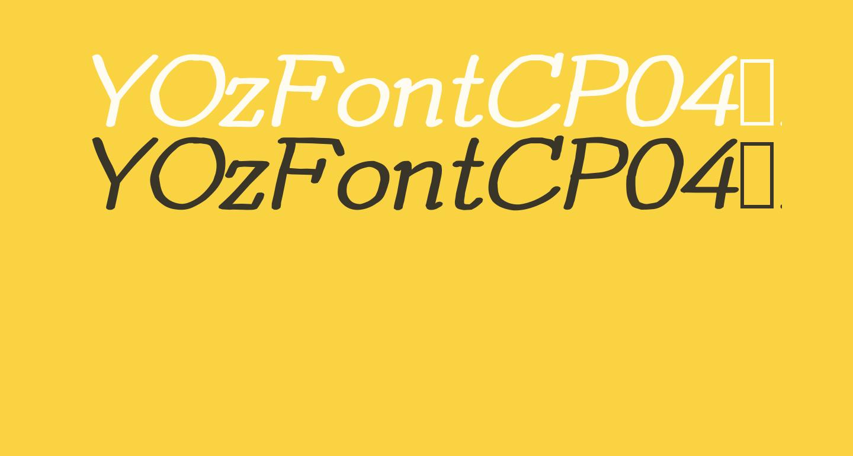 YOzFontCP04 Bold Italic