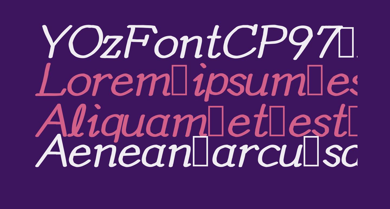 YOzFontCP97 Bold Italic