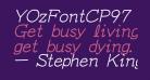 YOzFontCP97 Italic