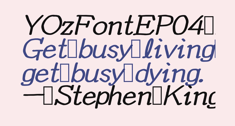 YOzFontEP04 Bold Italic