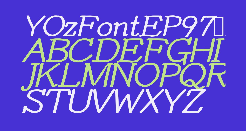YOzFontEP97 Bold Italic