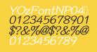 YOzFontNP04 Bold Italic