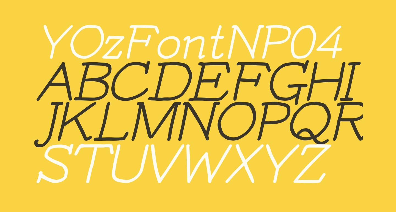 YOzFontNP04 Italic