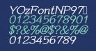YOzFontNP97 Bold Italic