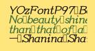 YOzFontP97 Bold Italic
