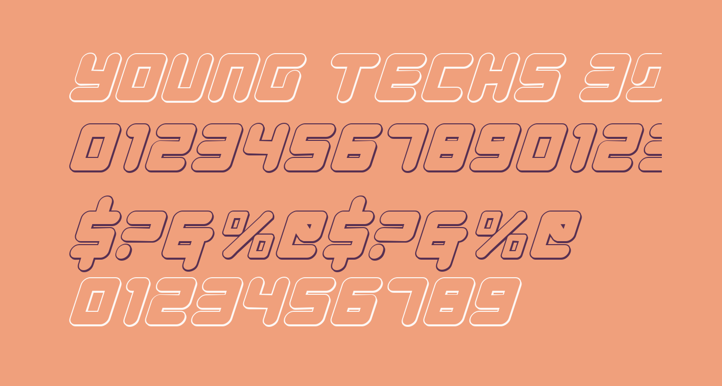 Young Techs 3D Italic