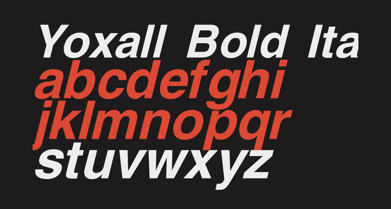 Yoxall Bold Italic