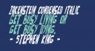 Zakenstein Condensed Italic
