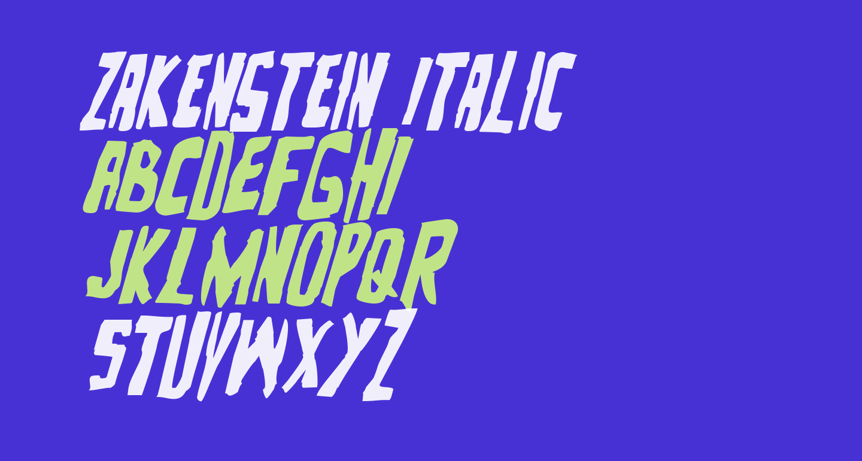 Zakenstein Italic