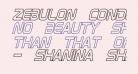 Zebulon Condensed Hollow Italic