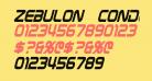 Zebulon Condensed Italic