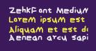 ZehkFont Medium