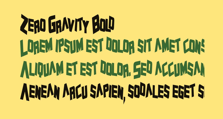 Zero Gravity Bold