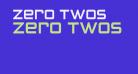 Zero Twos
