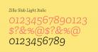 Zilla Slab Light Italic