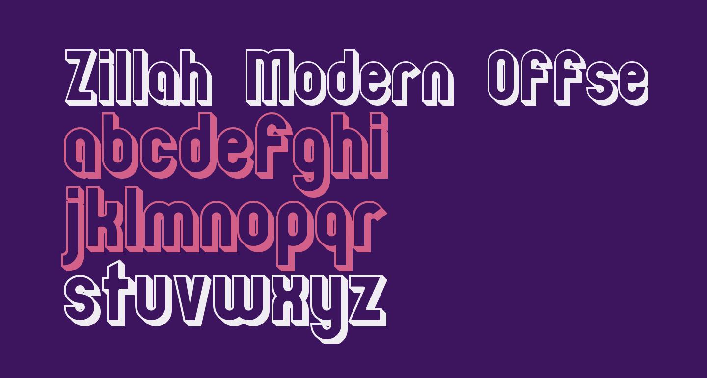 Zillah Modern Offset Outline