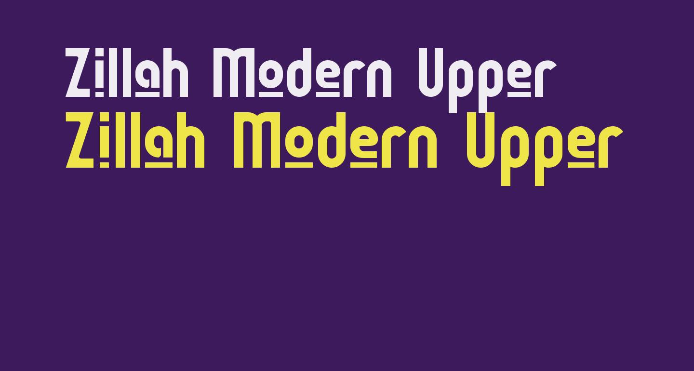 Zillah Modern Upper