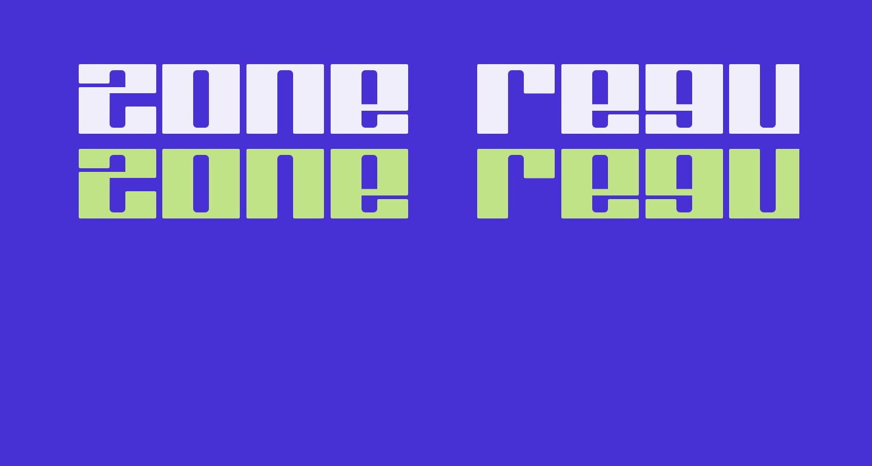 Zone Regular