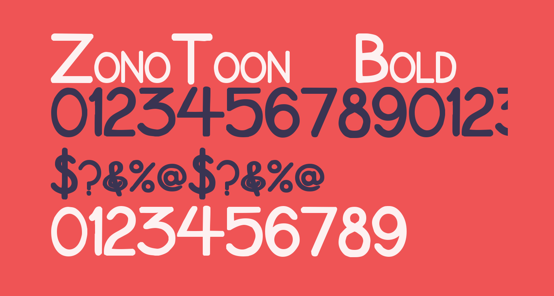 ZonoToon  Bold