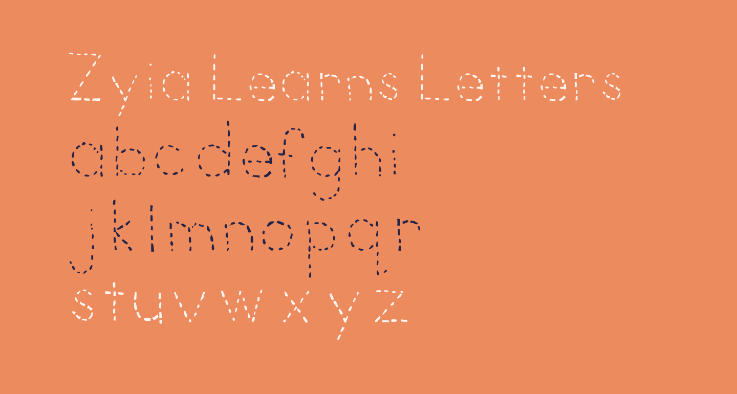 Zyia Learns Letters
