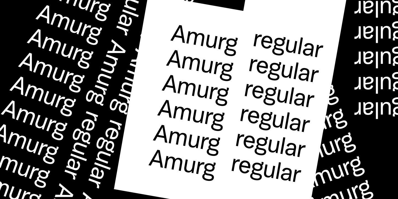 Amurg 1 font