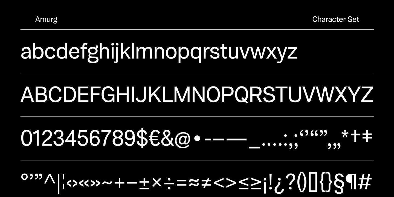 Amurg 2 font