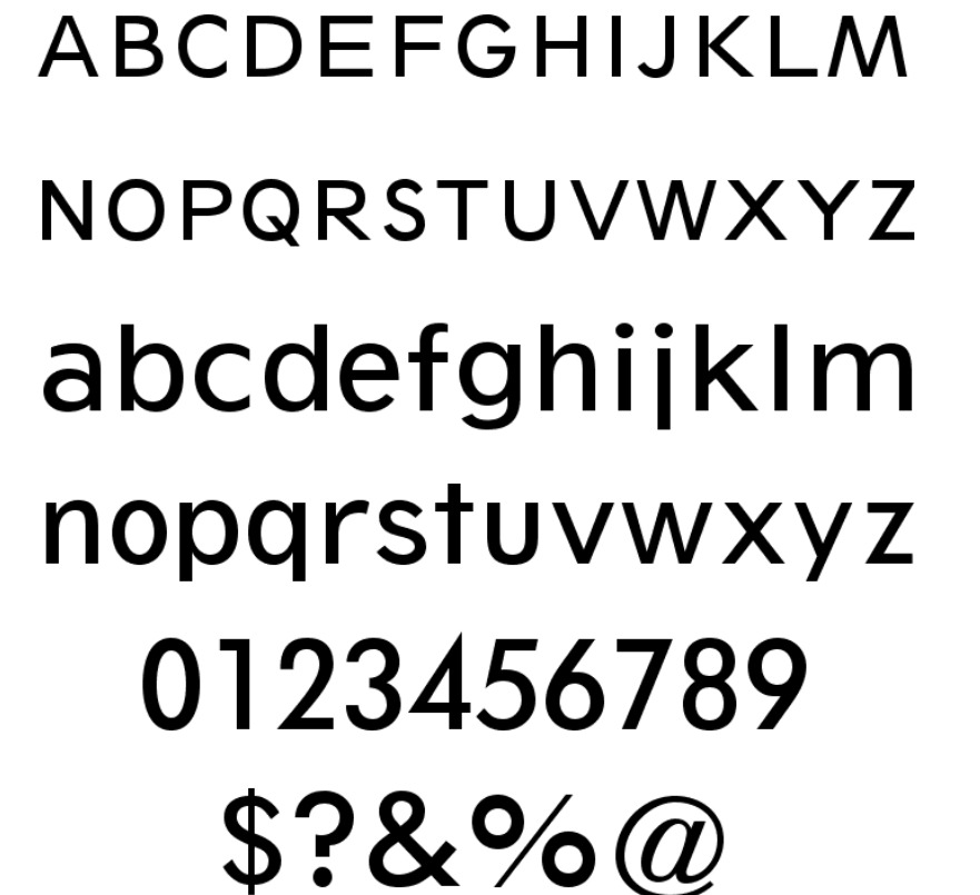 Sans AT Number One font BY adobe