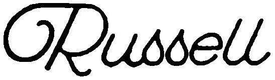 Russell script font