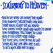 Lyrics of Stairway to Heaven is written with this font. Help me...