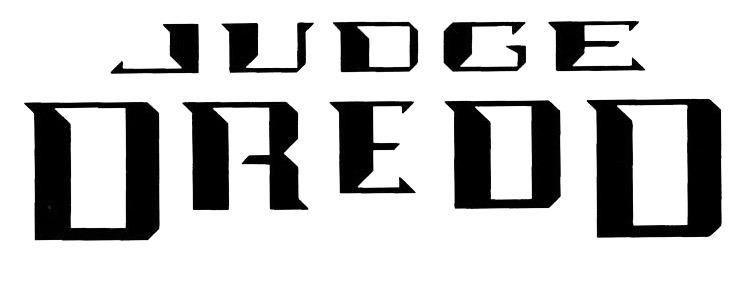 Judge Dredd DC logo. What the font?