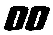NASCAR Number Font